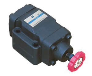 L Plate-mounted restrictive valve